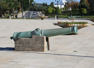 Old Cannons at the Royal Palace in Rabat,Morocco