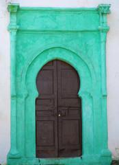 Old Door with green details