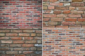 texture brick wall, set