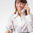 Young businesswoman with phone