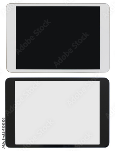 modern tablet PC or ipad photo isolated with clipping path - 78060820