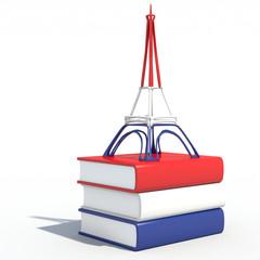 Torre Eiffel 3D con libri