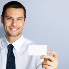 Businessman with businesscard