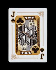 Spielkarten - Poker - Kreuz Bube im Spiel