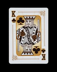 Spielkarten - Poker Kreuz König im Spiel