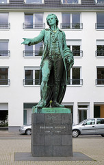 Friedrich Schiller monument in Mannheim, Germany
