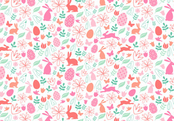 Seamless Easter pattern, vector