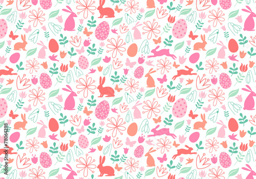 Materiał do szycia Seamless Easter pattern, vector