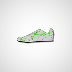 Abstract illustration on sneakers
