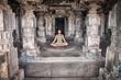 Meditation in Hampi temple