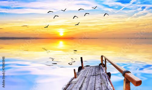 Fotobehang Een Hoekje om te Dromen vacaciones en el mar de colores