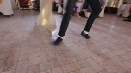 The dancer parodies Michael Jackson