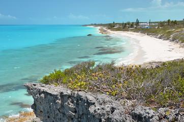Coast line of Little Exuma, Bahamas