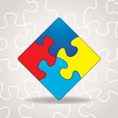 Autism Awareness Puzzle Pieces Illustration
