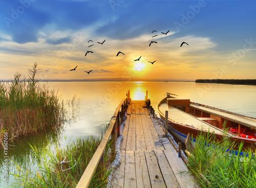 vacaciones y tiempo libre en el lago