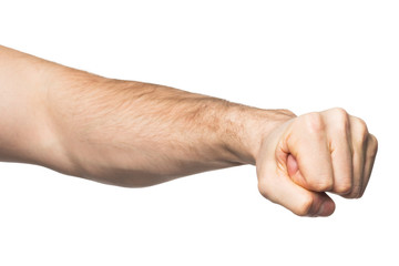 Hand with clenched a fist