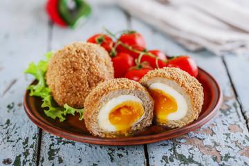 eggs on Scottish