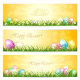 Fototapety Three Easter cards