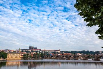 General view of Charles Bridge Prague