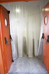 Industrial door talked