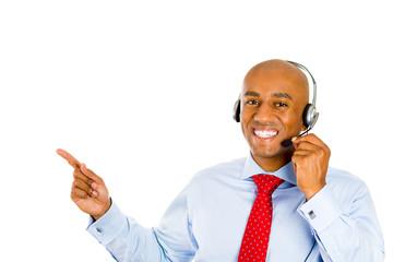 male customer service representative call centre worker