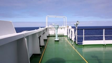 Wing of the deep sea ship at sea
