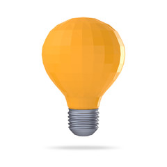 low polygonal 3d  light bulb concept symbol