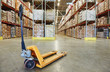 pallet stacker truck at warehouse - 78072036