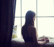 Woman in the morning.