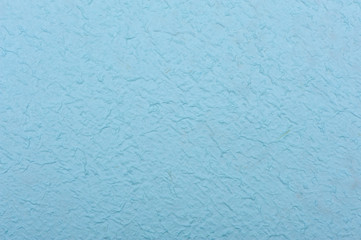 light Blue rough paper made from mulberry tissue. The texture is