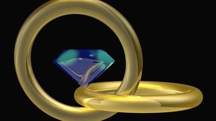 Pierre précieuse, Cristal bleu -Animation