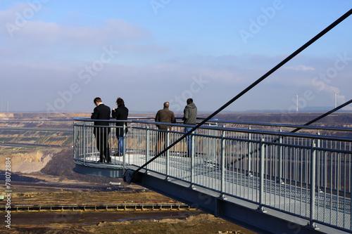 canvas print picture Blick vom Skywalk in Tagebau Garzweiler bei Jackerath