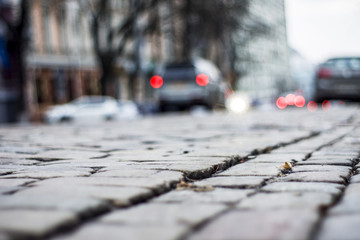 road of stones in Kiev