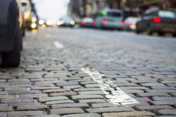 road of stones in Kiev