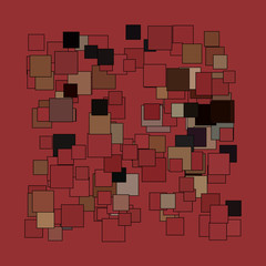 Abstract broad strokes red and black