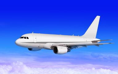 cargo plane on blue sky