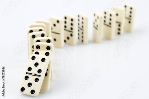 Leinwanddruck Bild Dominoes