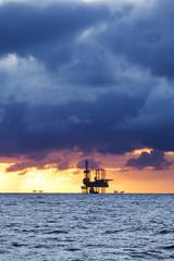 Gas platform on the North sea