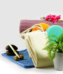 Set objects for massage and shower