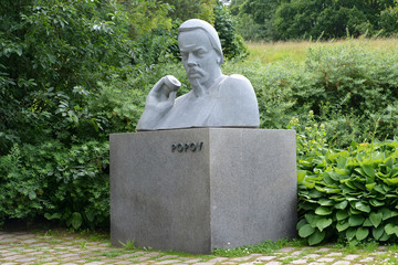 Monument to A.S. Popov, inventor of radio in the city of Kotka,