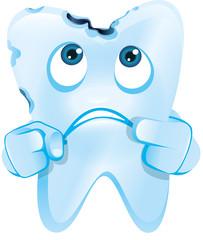 Zahn mit Karies Character