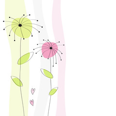 Grußkarte Hintergrund Blumen Karte Geburtstag
