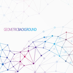Geometric colorful background Molecule and communication for
