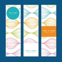 Vector colorful horizontal ogee vertical banners set pattern