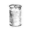 Tin can with ring pull. Vector illustration. - 78077400