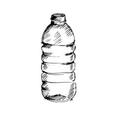 Water bottle. Sketch. Vector illustration.