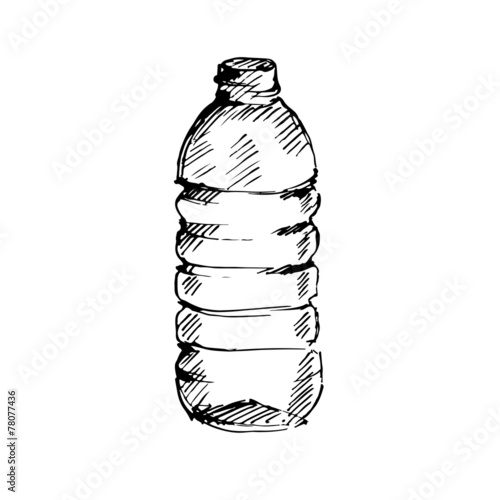 Water bottle. Sketch. Vector illustration. - 78077436