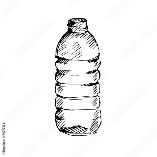 Water bottle. Sketch. Vector illustration. - 78077436