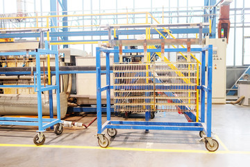 The image of a conveyor at the factory