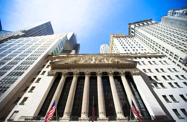 New York Stock Exchange in Manhattan Finance district